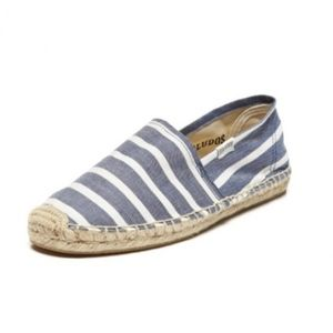 Soludos Original Espadrille Light Navy Stripes NWB